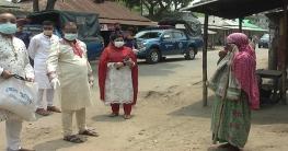 নেত্রকোনায় অসহায়দের বাড়িতে বাড়িতে পুলিশ সুপার