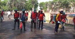 গোপালগঞ্জ শহরে জীবাণুনাশক স্প্রে