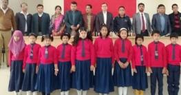 মুকসুদপুরে শুদ্ধ ভাষায় জাতীয় সংগীত প্রতিযোগিতা