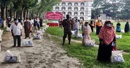 গোপালগঞ্জে ১৫০০ পরিবারকে খাদ্য সহায়তা দিল সেনাবাহিনী