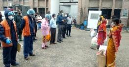 গোপালগঞ্জে জেল থেকে ছাড়া পাওয়া ৪০ জনকে খাদ্য সহায়তা