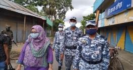 গোপালগঞ্জে বিধি নিষেধ বাস্তবায়নে মাঠে তৎপর বিমান বাহিনী